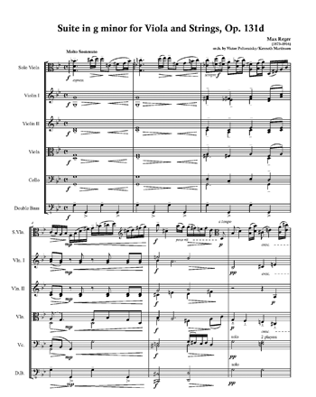 Регер - Сюита для альта с оркестром